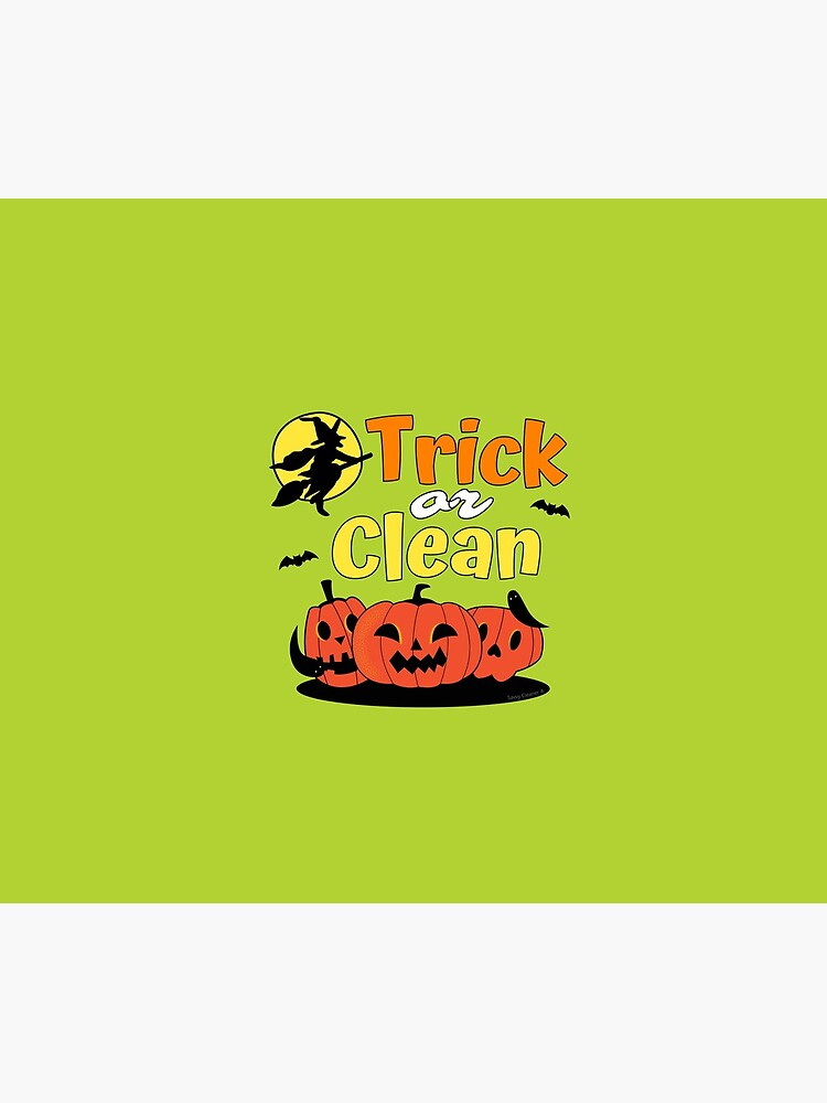 Trick or Clean Witch Broom Halloween Pumpkin Cleaning by SavvyCleaner