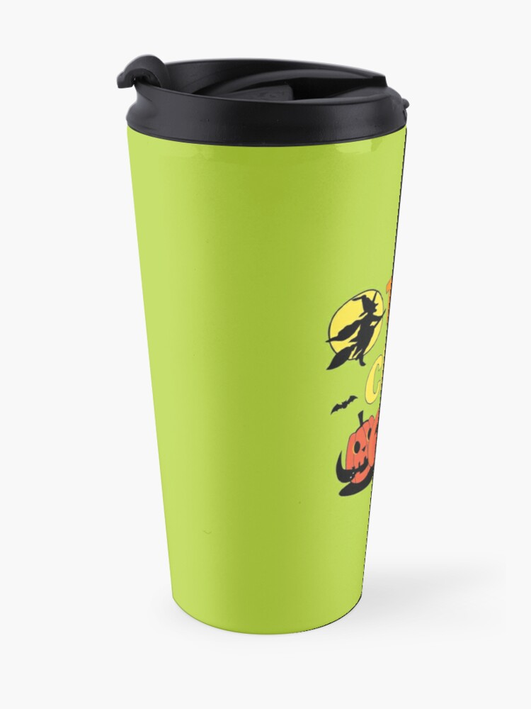 Alternate view of Trick or Clean Witch Broom Halloween Pumpkin Cleaning Travel Mug