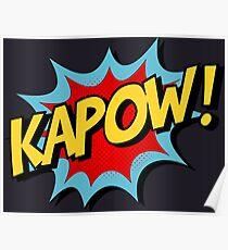 Kapow! Comic Book Poster