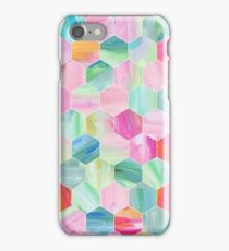 Pretty Pastel Hexagon Pattern in Oil Paint iPhone Case/Skin