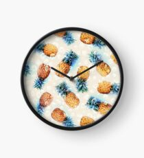 Pineapples + Crystals Clock