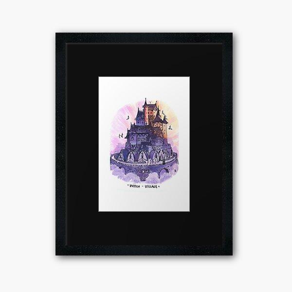 Witch village Framed Art Print
