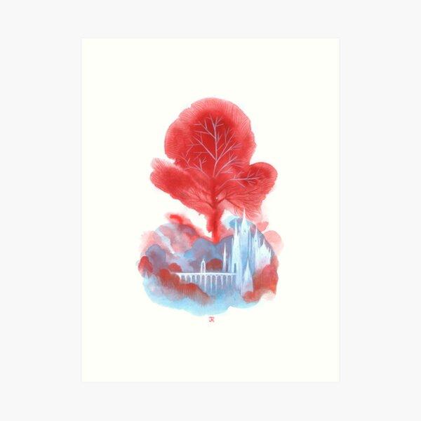 The red tree Art Print