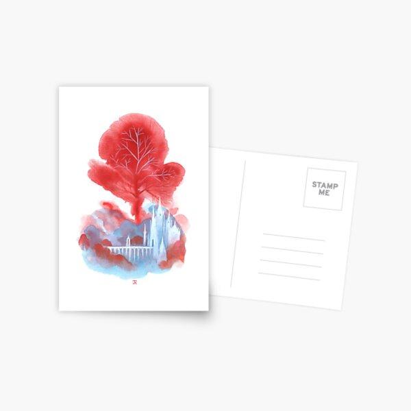 Der rote Baum Postkarte