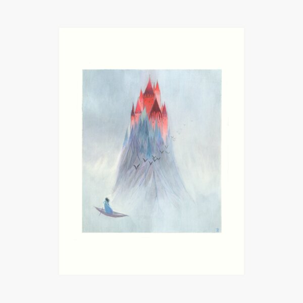 Die rote Burg Kunstdruck