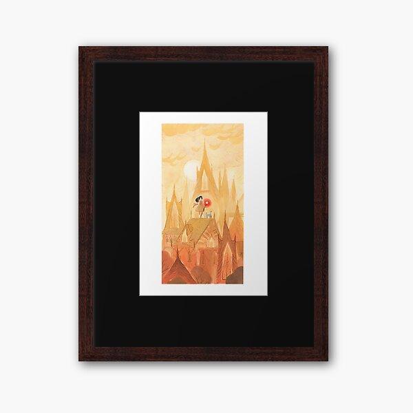 Ocher city Framed Art Print