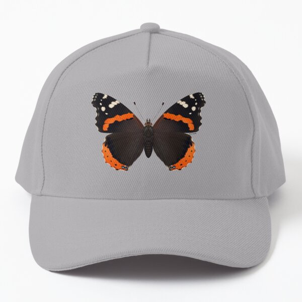 Red Admiral Butterfly Painting Baseball Cap