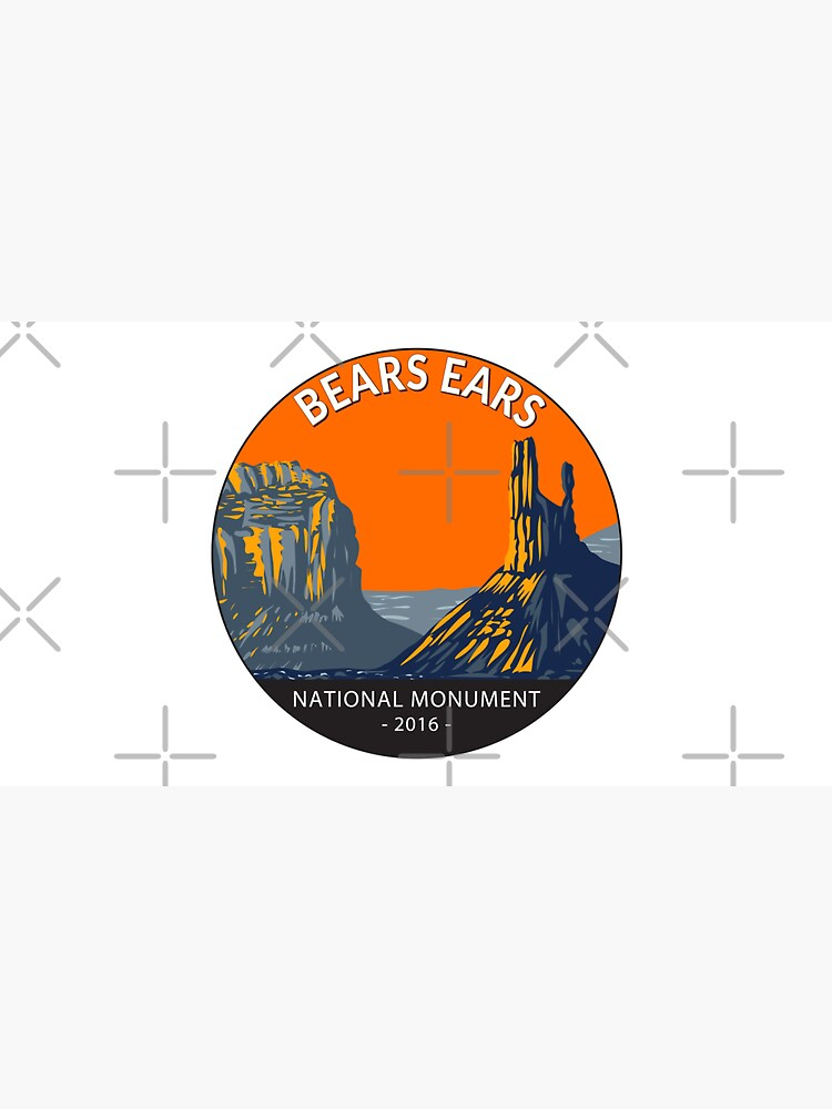 Bears Ears National Monument Utah Circle by KrisSidDesigns