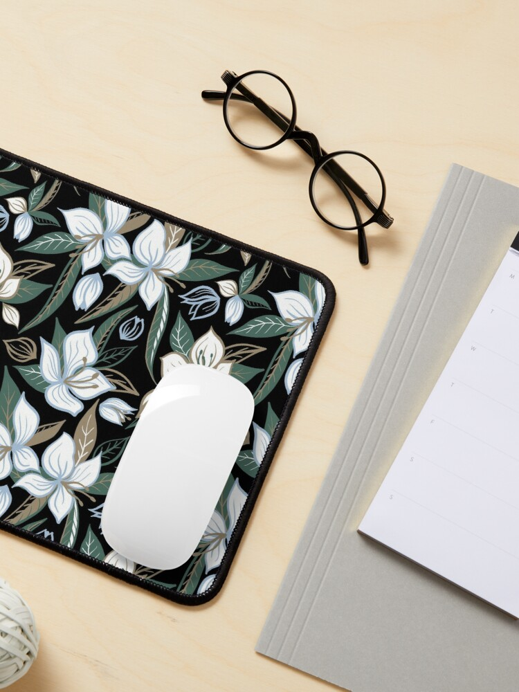 Alternate view of White flowers at night Mouse Pad