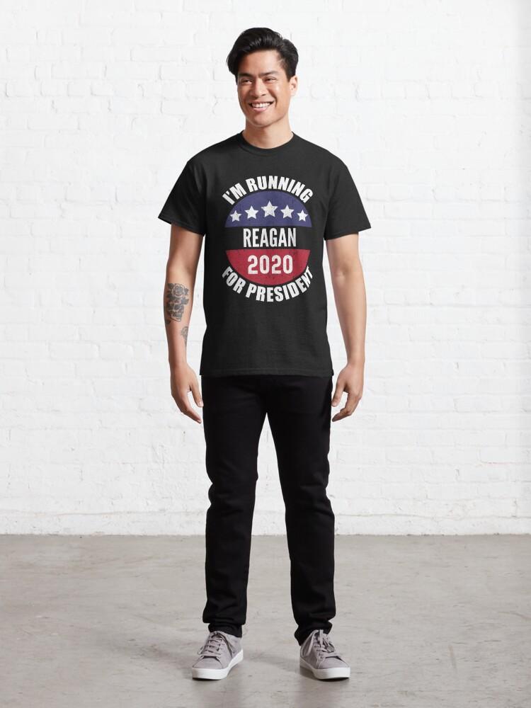 Alternate view of Reagan I'm Running For President 2020 Classic T-Shirt