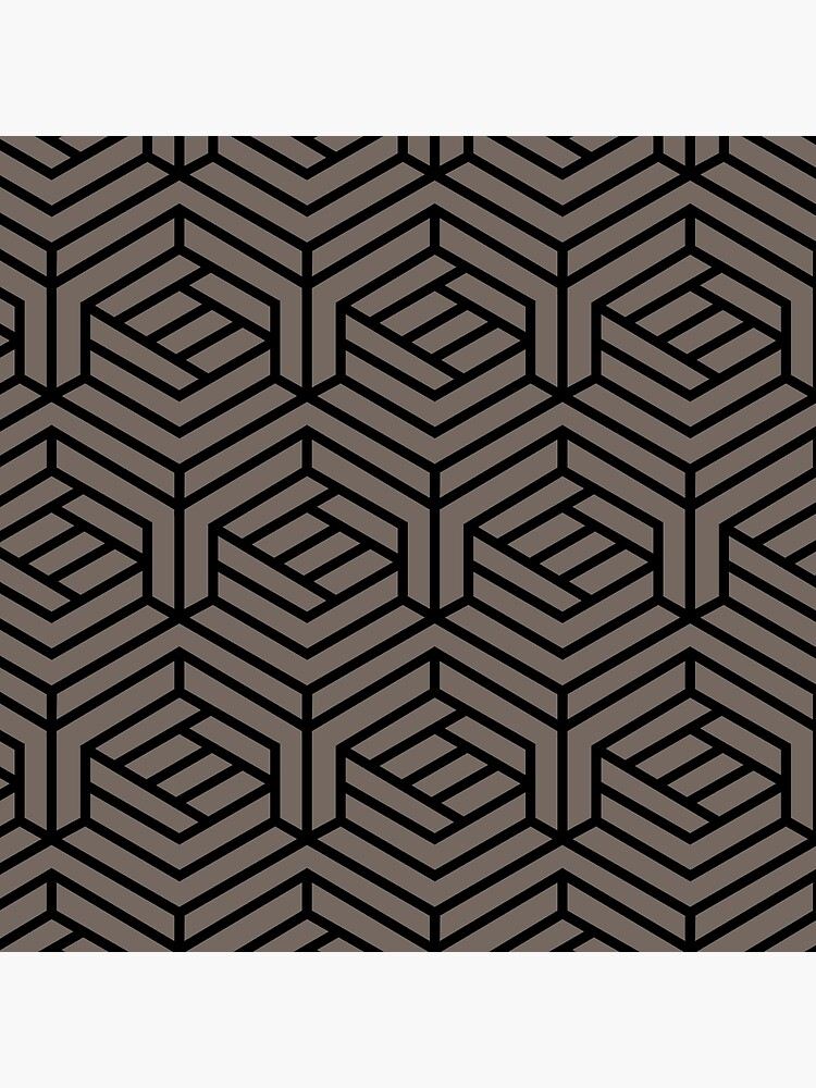 Grayish Brown and Black Modern Cube Pattern Pairs 2022 Popular Color Sherwin Williams Garret Gray SW 6075 by ColorOfTheYears