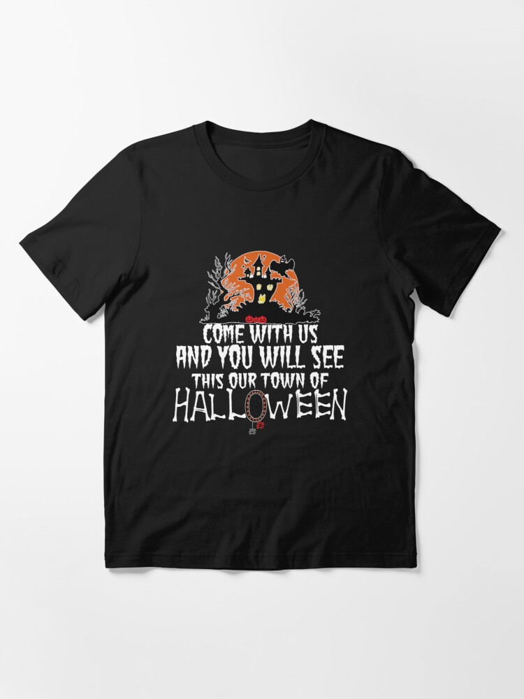 Alternate view of Best Halloween Town, Town of Halloween Essential T-Shirt