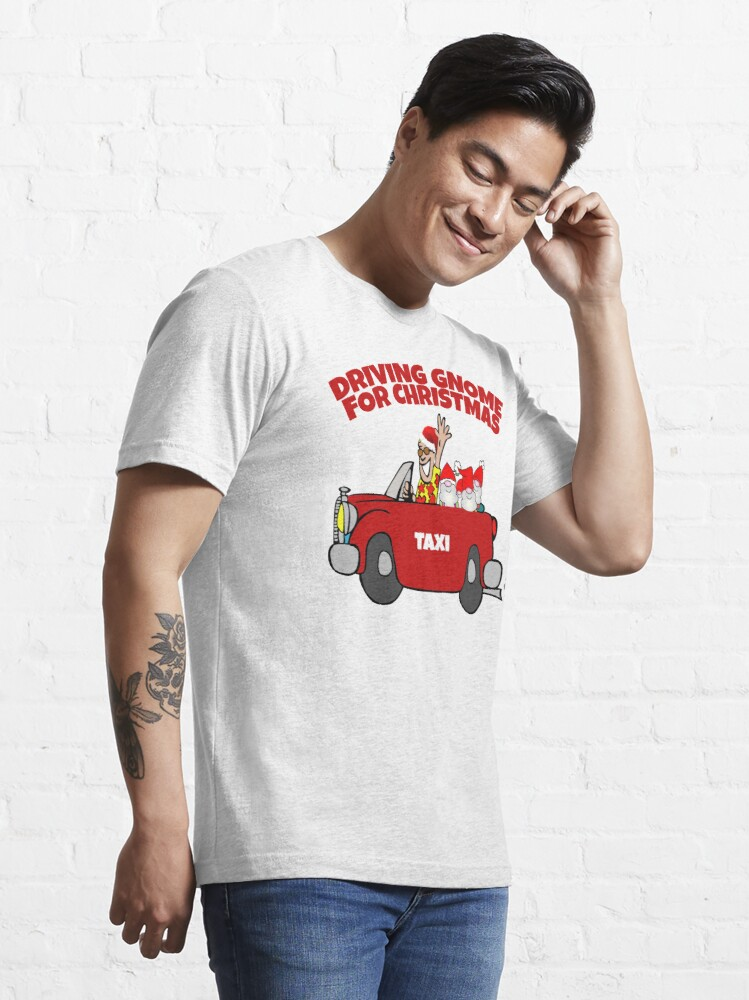 Alternate view of Driving Gnome Home For Christmas  Essential T-Shirt
