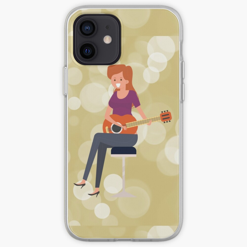 SERIES C- GUITAR-SEAMLESS PATTERN-39 iPhone Case & Cover