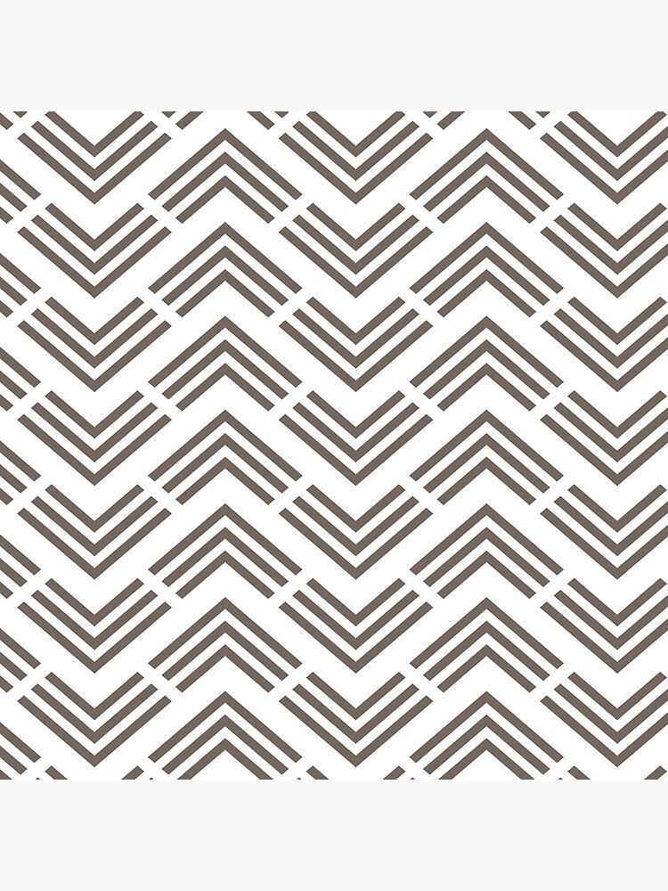 Grayish Brown and White Chevron Pattern Pairs 2022 Popular Color Sherwin Williams Garret Gray SW 6075 by ColorOfTheYears