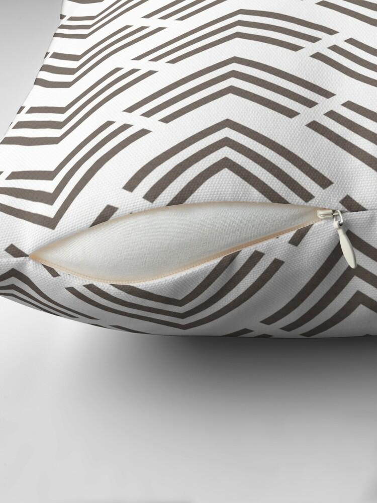 Alternate view of Grayish Brown and White Chevron Pattern Pairs 2022 Popular Color Sherwin Williams Garret Gray SW 6075 Throw Pillow