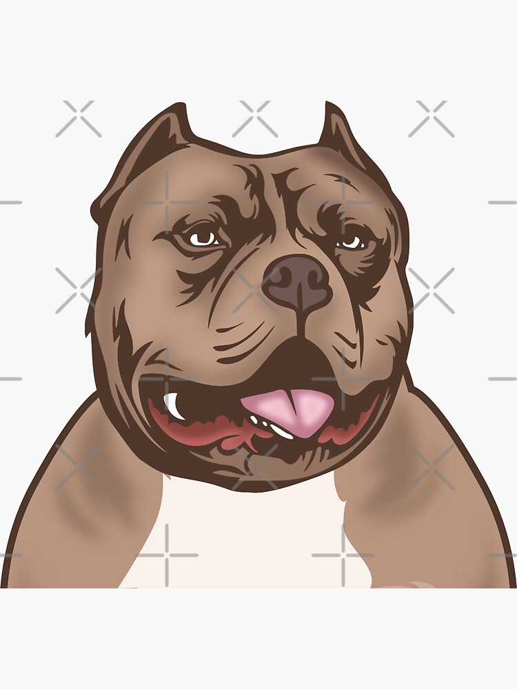 colorful dog smile, Dog lover,American Bully Dog Kennel by EscoFar