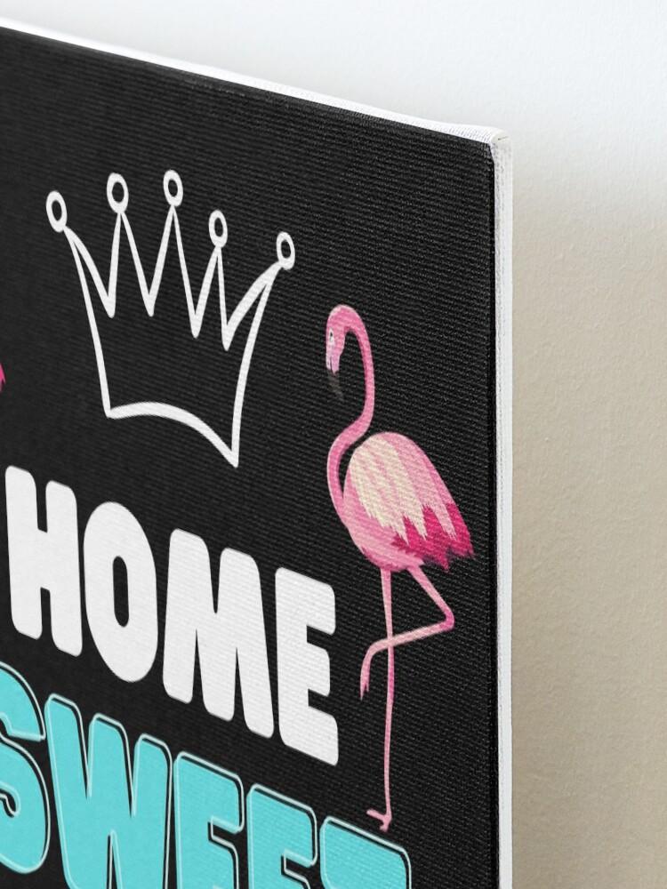 Alternate view of flamingo wall art design  Mounted Print