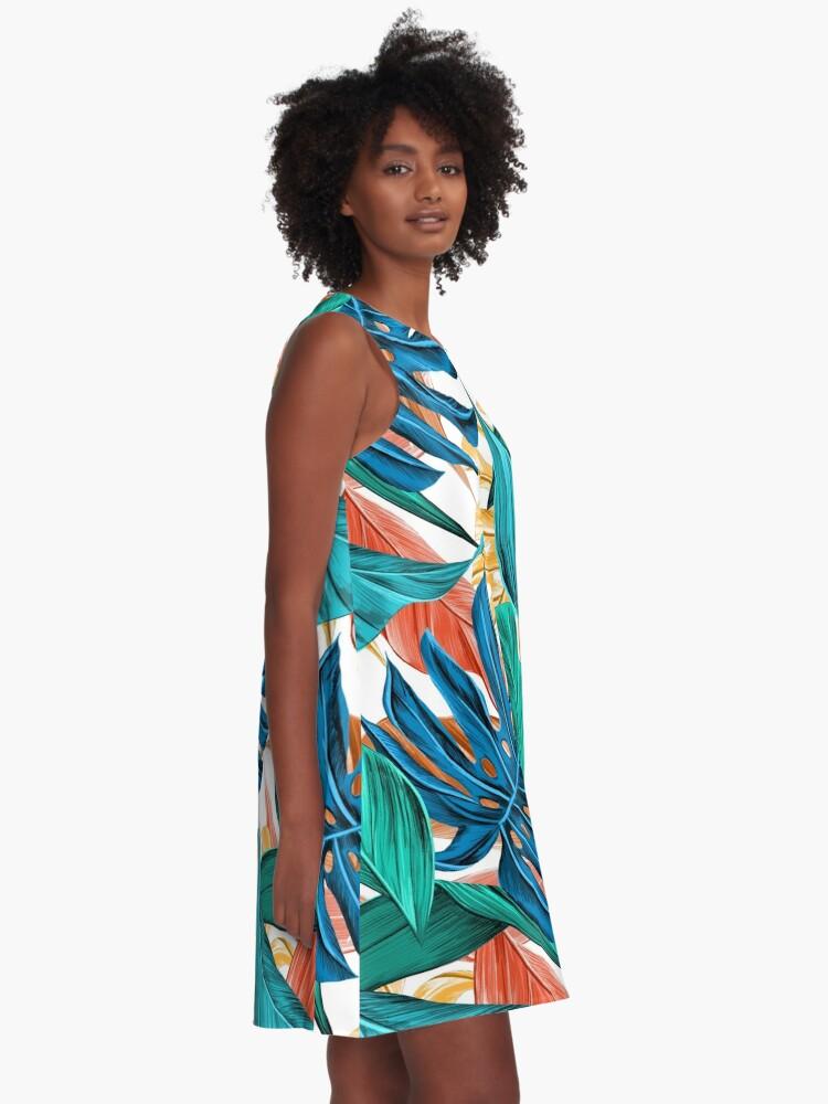 Alternate view of Floral Pattern Design A-Line Dress