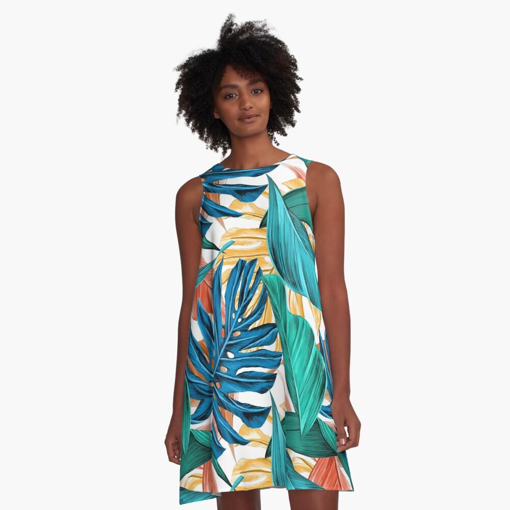 Floral Pattern Design A-Line Dress