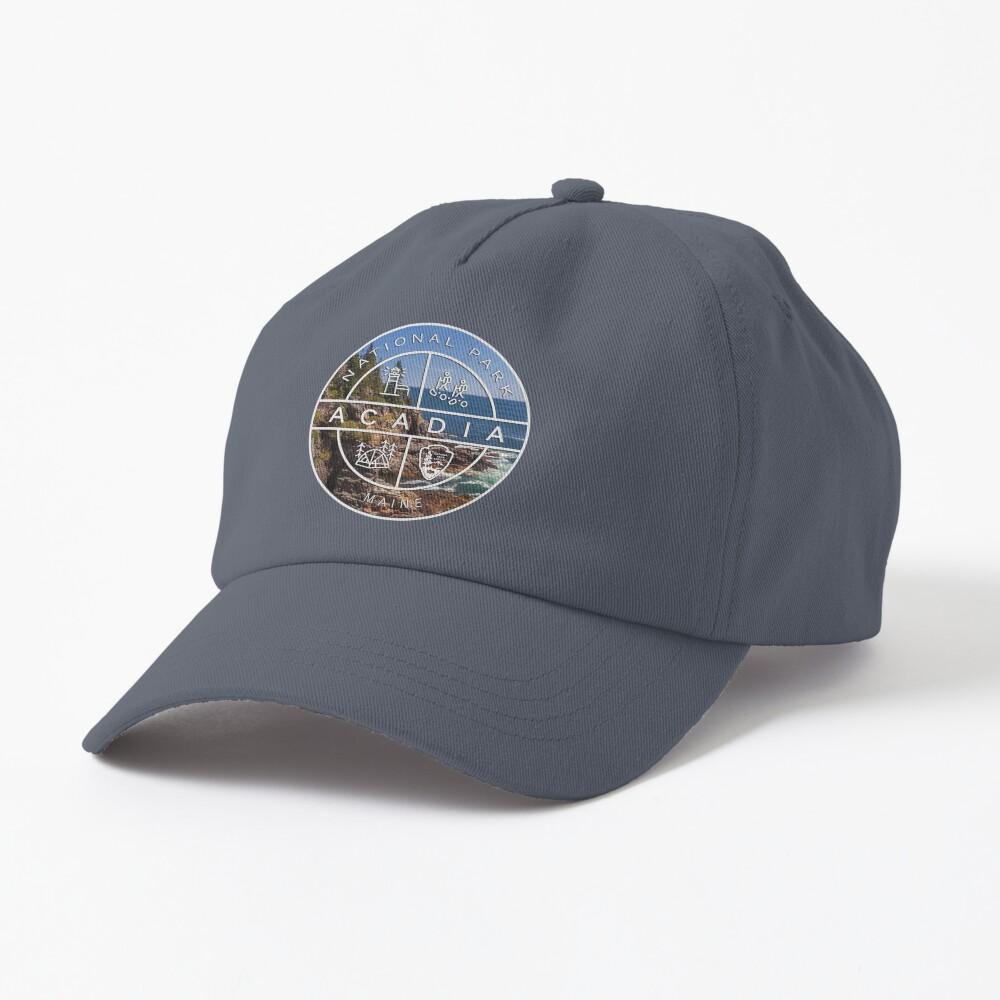 Acadia National Park Heraldic Photo Logo Cap
