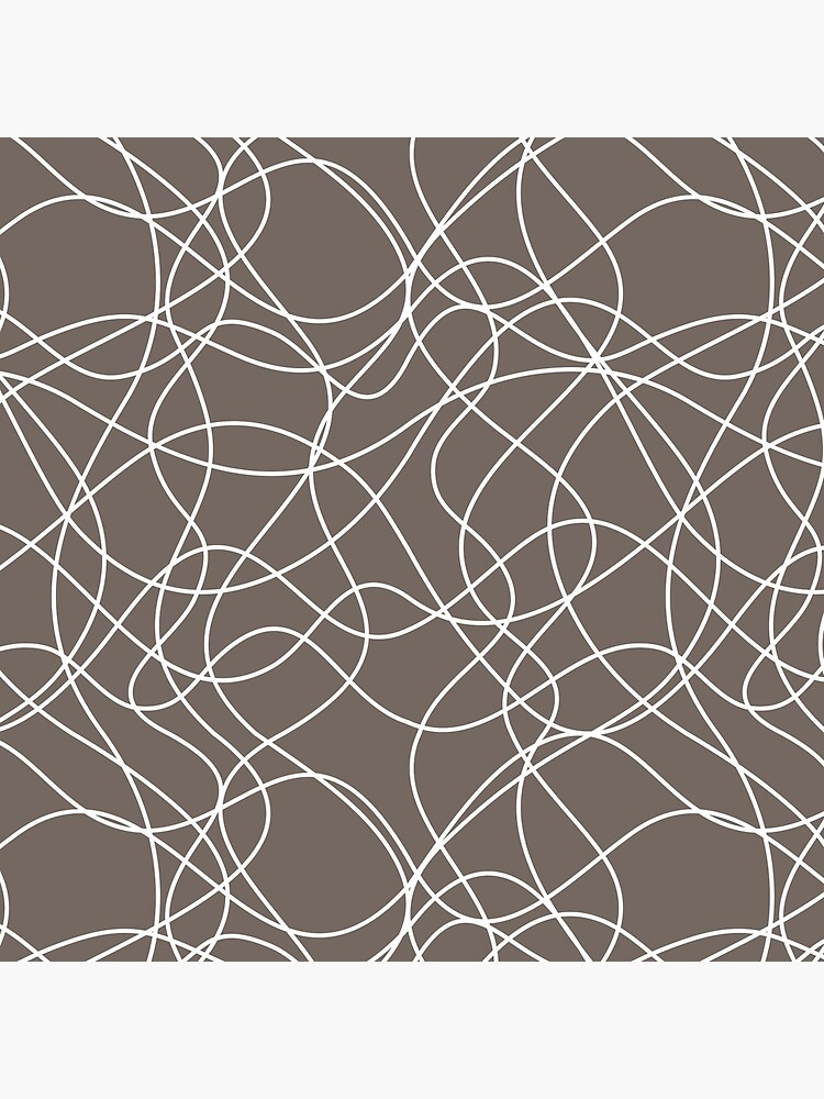 Grayish Brown and White Scribbled Line Pattern Pairs 2022 Popular Color Sherwin Williams Garret Gray SW 6075 by ColorOfTheYears