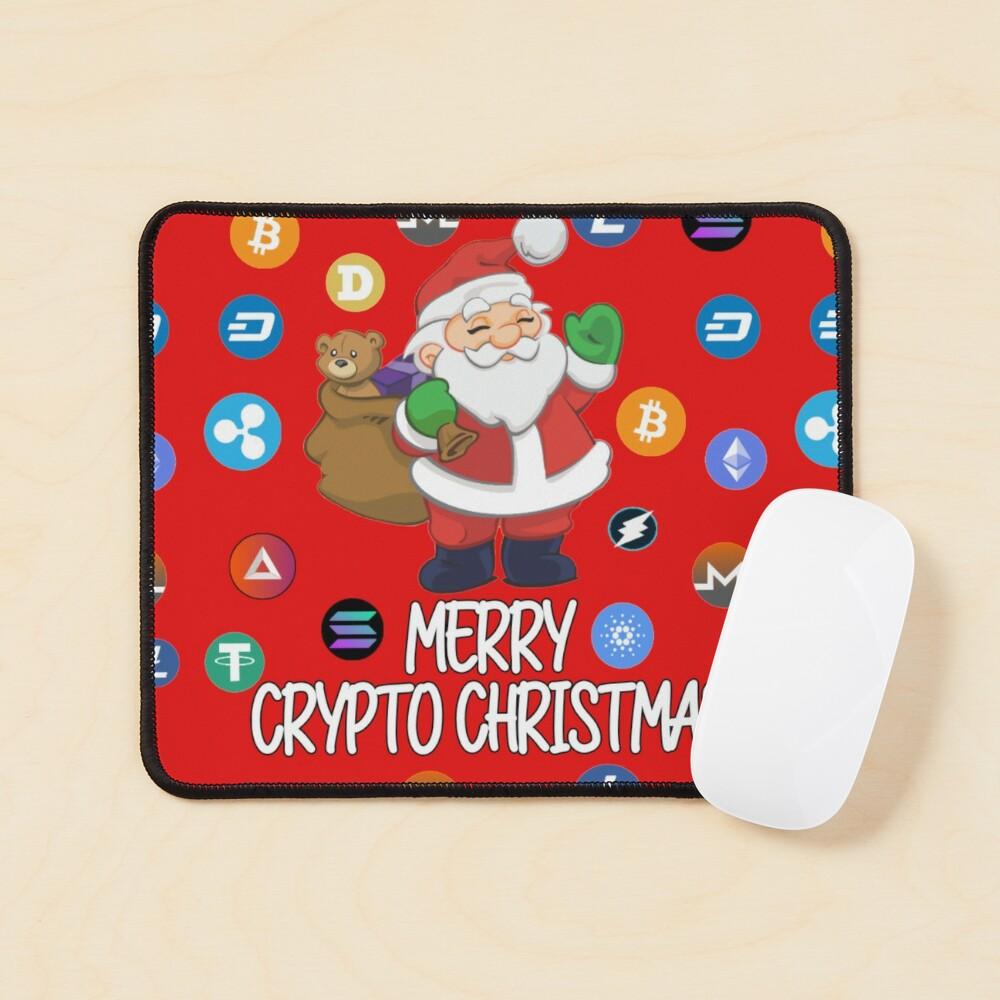Crypto Christmas Santa Claus Mouse Pad