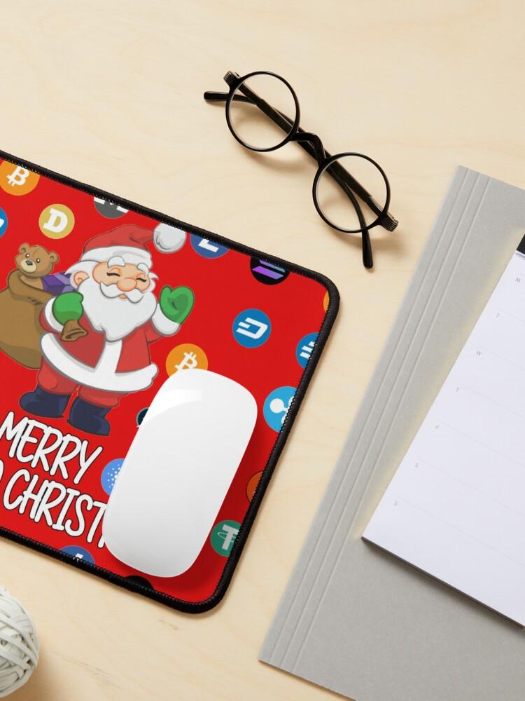 Alternate view of Crypto Christmas Santa Claus Mouse Pad