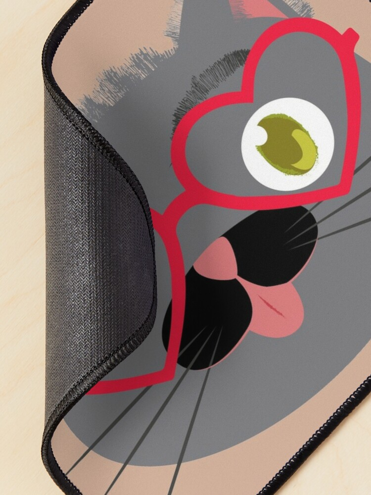 Alternate view of Brown cat Mouse Pad