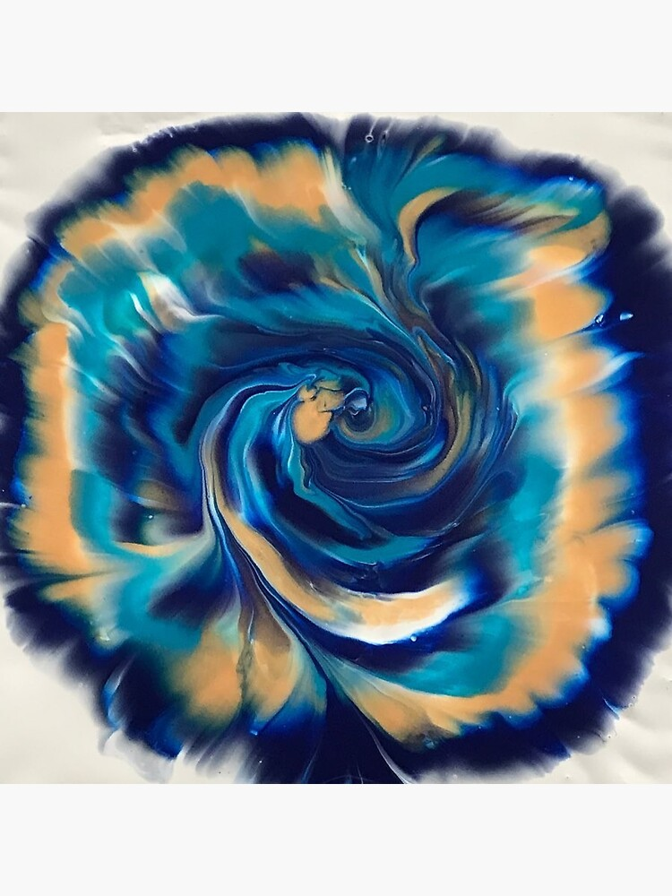 Metallic Acrylic Pour by BluebirdArt71