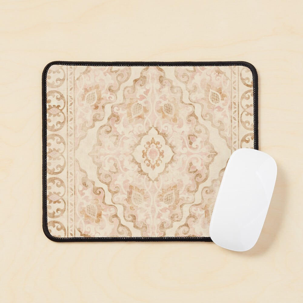 Bohemian Arabesque Moroccan Distressed Pattern Mouse Pad