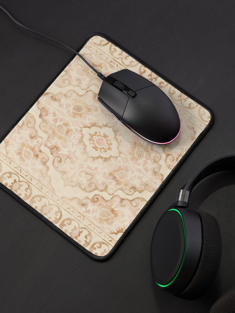 Alternate view of Bohemian Arabesque Moroccan Distressed Pattern Mouse Pad