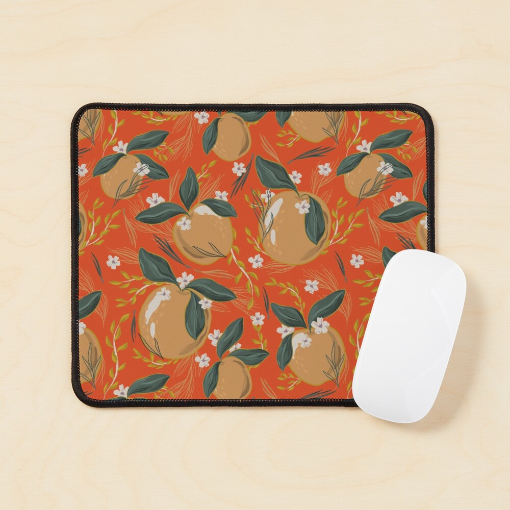 Oranges and Blossom Mouse Pad