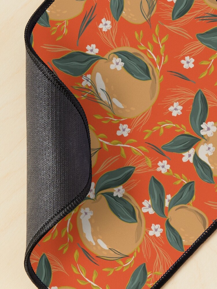 Alternate view of Oranges and Blossom Mouse Pad