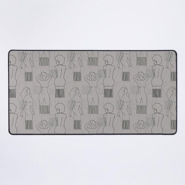 Peine con forma de mujer negra sobre fondo gris Alfombrilla de escritorio
