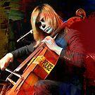 Skeleton playing the cello... by Rita  H. Ireland