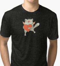 a cat with a heart Tri-blend T-Shirt