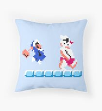Ice Climber Throw Pillow