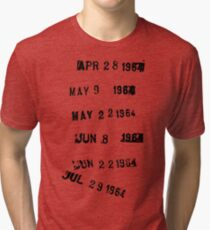 Last Checked Out Library Stamp Tri-blend T-Shirt