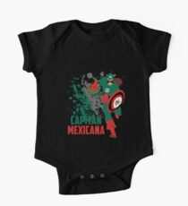 Capitan Mexicana Cool Sarcastic Funny America Captain Graphic Artistic Design Kids Clothes