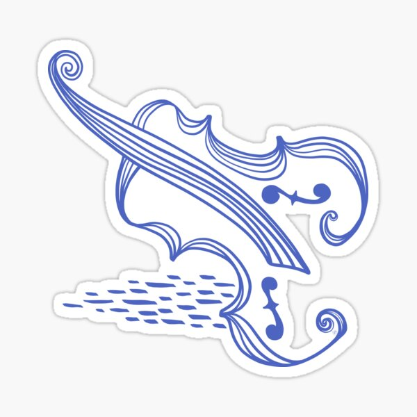 Scandi Cello or Violin or Viola...whatever you want it to be Sticker