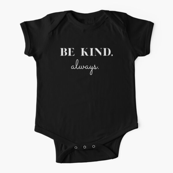 Be Kind, Always T-shirts and Apparel - Blue and Black Short Sleeve Baby One-Piece