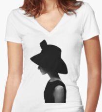 Hepburn Women's Fitted V-Neck T-Shirt