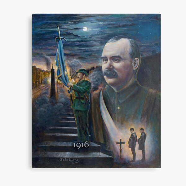 General Connolly 'The rising of the moon Metal Print