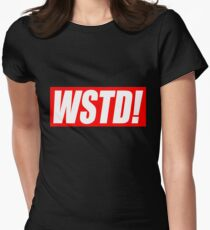 Wasted - Supreme parody (GTA)  Womens Fitted T-Shirt