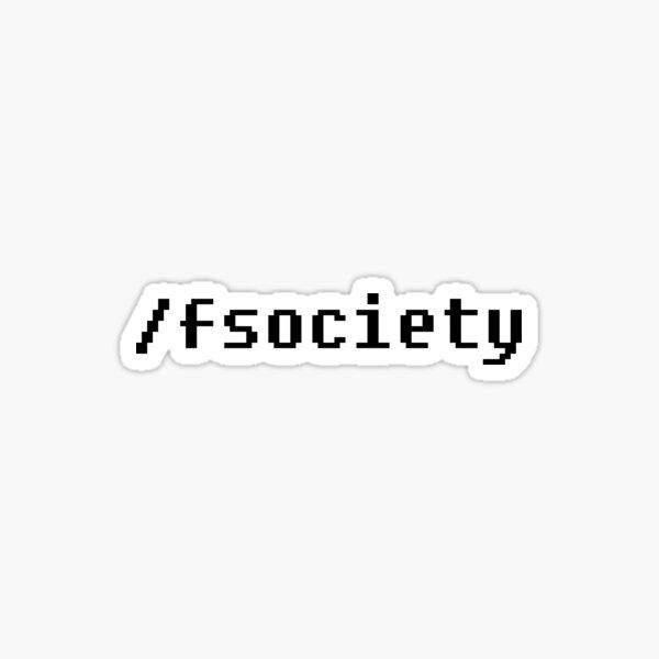 F society - Mr. Robot Sticker