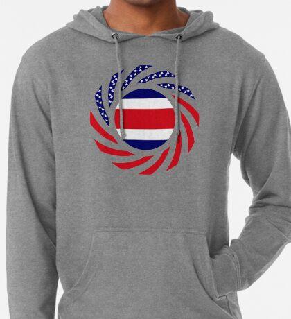 Costa Rican American Multinational Patriot Flag Series Lightweight Hoodie