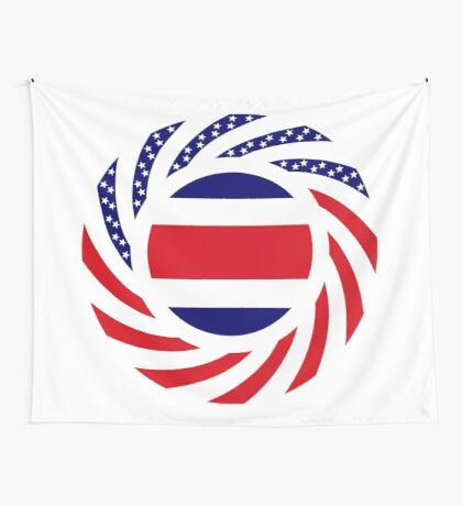 Costa Rican American Multinational Patriot Flag Series Wall Tapestry