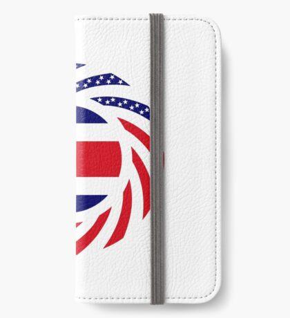 Costa Rican American Multinational Patriot Flag Series iPhone Wallet