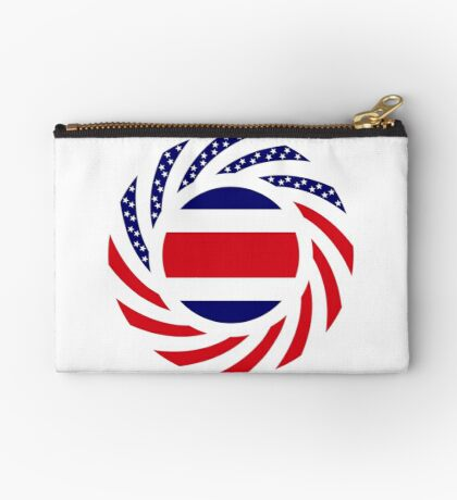 Costa Rican American Multinational Patriot Flag Series Zipper Pouch